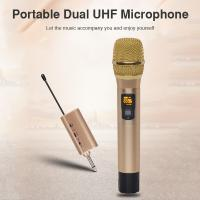 Quality 2 Pieces Pair Wireless Handheld KTV Singing Microphone for Voice Amplification for sale