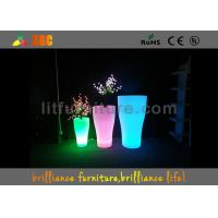 Wholesale Indoor And Outdoor LED Flower Pots With Pe Material , Remote Control Battery from china suppliers
