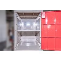 Wholesale Yellow Plastic School Lockers Four Tier Lockers With Padlock Anti UV Aging from china suppliers