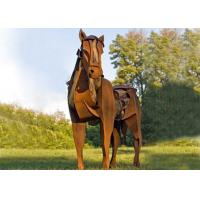 Wholesale Life Size Metal Horse Sculpture / Metal Horse Garden Sculpture Rusty Finishing from china suppliers