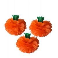 Buy cheap Tissue Paper Pom Pom Flowers Honeycomb Halloween Decorations 100% Handmade from wholesalers