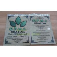 Wholesale OPMS Kratom botanical extract gold herbal bags zip plastic bags from china suppliers