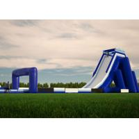 Wholesale Waterproof Commercial Water Slides , Long Giant Inflatable Slide With Logo Printing from china suppliers