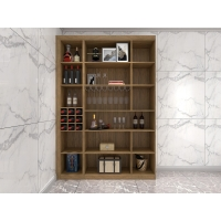 Wholesale Wine Cabinets For Home Used Of MDF Board In Wall Storage Units With Glass Shelves And built in wine rack in cabinets from china suppliers