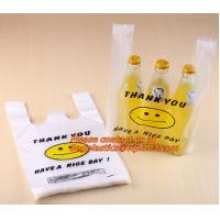 Wholesale Cute plastic shopping bags with smile, T-shirt bags with eyes, Vest bags with eyelash from china suppliers