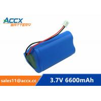 Wholesale 18650 3.7V 6600mAh rechargeable li-ion battery pack 1S3P for home appliancewi with jst connector and PCM from china suppliers