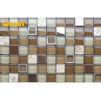 Wholesale Interior Wall Glossy Kitchen Mosaic Tiles 4mm / 6mm / 8mm Thickness Customized from china suppliers