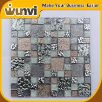Wholesale Glass Mosaic Wall Tile Mirror Chip Blend Spa , Iridescent Mosaic Tiles from china suppliers