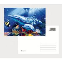 Wholesale 2021 Souvenir scenery Plastic lenticular 3D printing postcard with 3D flip effect post card printed by UV printer from china suppliers