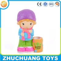 Wholesale lovely cartoon girl kids plastic wholesale piggy banks from china suppliers