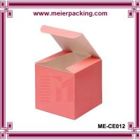 Quality Custom printed cube paper candle packaging box ME-CE012 for sale