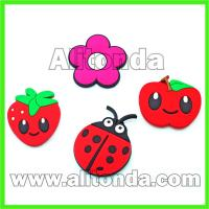 China Custom soft pvc cartoon animal flower food fruit fridge magnet for home on sale