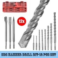 Wholesale BMR TOOLS Industrial Quality of 12pcs SDS Plus Hammer Drill Set for conceret,marble,granit outdoor working from china suppliers