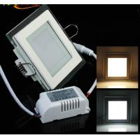 Wholesale Round and Square design of Glass recessed LED panel light flat SMD5730 Epistar 6W from china suppliers