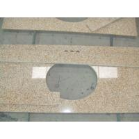 Wholesale Sunset Gold Granite Bathroom Vanity Tops , Custom Cut Size Granite Tile Countertop from china suppliers