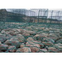 China Pvc Coated Gabion Baskets , Rock Filled Gabion Cages For Seaport Engineering on sale
