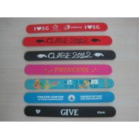 Wholesale silicone papa slap bracelet , full color silicone slapbands from china suppliers