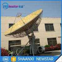 Wholesale 9.0m big size 2-axis or 3-axis motorized ku band earth station satellite communication antenna from china suppliers