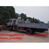 China customized dongfeng RHD 170hp 5T folded crane mounted on truck for sale,  best price 5tons knuckle truck with crane for sale