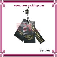 Wholesale Golden foil logo UV black paper hangtags for men suit ME-TG001 from china suppliers