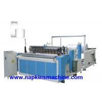 China High Speed Fully Auto Paper Roll Rewinding Machine / Paper Slitter Machine on sale