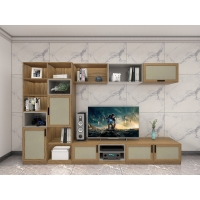 Wholesale On Wall Cabinets Display Shelves By Melamine Board With Glass Racks And Floor Stand In Apartment Living Room Furniture from china suppliers
