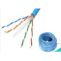 Wholesale 4 Pairs Ethernet Lan Cable / CAT6 UTP Cable 1000ft 0.58mm BC Fluke Pass from china suppliers