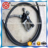 Wholesale ISO manufacturer 45mm high wear resistant fiber braided black petrol station rubber hose from china suppliers