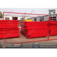 "Quality 8ft Temporary Construction Fencing with 1"" square tube frame and high visible for sale"