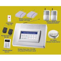Wholesale Complete Wireless Alarm Systems  of panel and PIR, door contact, smoke detector from china suppliers