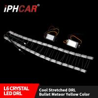 Wholesale IPHCAR Flexible Light Car Light Led Light  Universal Crystal Led Car Slim Dual Colors Daytime Light from china suppliers