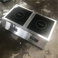 Wholesale chef double hob commercial  inducton hob 5KW  commrcial model  czc-17O from china suppliers