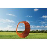 China Creative Round Shape Design Corten Steel Sculpture As Exterior Decoration for sale