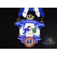 Buy cheap Durable Custom Insert Medals , Crown Awards Medals Antique Silver Plating from wholesalers