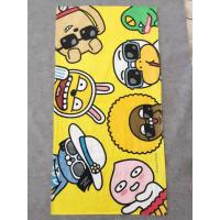 Wholesale 100% cotton velour reactive print small MOQ custom print beach towel from china suppliers