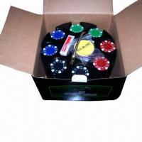 China 200ct Suited 11.5g Poker Chip Set in Plastic Carousel on sale