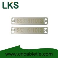 Wholesale Stainless 316 90mm x 19mm x 0.5mm cable tag(Laser cable tag) from china suppliers