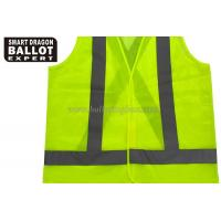 Quality Yellow , Orange , Green Reflective Safety Vest Clothing Polyester Emergency Vest for sale