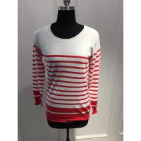 Wholesale Combed Cotton Stripe Women'S Pullover Sweater Various Color 15JT011 from china suppliers