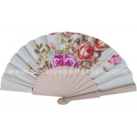 Wholesale Unique Wooden Hand Fan WITH Transfer Printing , Luxury Hand Fan For Wedding from china suppliers