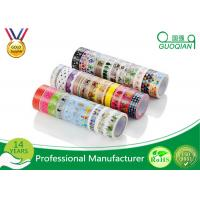 Quality Diary Scrapbook Adhesive Deco Washi Masking Tape For Sealing Envelopes for sale