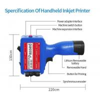 China High Definition Handheld Inkjet Printer For Expiry Date / Serial Number Marking on sale