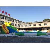 Quality 0.55mm PVC Tarpaulin Inflatable Water Slide Park For Kids / Inflatable Water Games for sale
