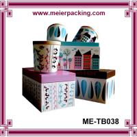 Wholesale high quality custom clear holding paper boxes for tea/milk cups ME-TB037 from china suppliers