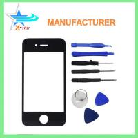Wholesale for iPhone 4 Front Replacement Part Lcd Glass Tools Kit Screen Repair Black from china suppliers