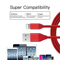Wholesale Nylon Braided USB Data Cable , USB Charging Cable For IPhone 6S / IPhone X from china suppliers