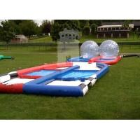 Wholesale Welded Funny Outdoor Inflatable Toys Inflatable Zorb Ball Race Ramp from china suppliers
