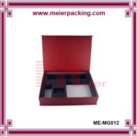 Wholesale recycled printed cardboard paper box with flocking insert ME-MG012 from china suppliers