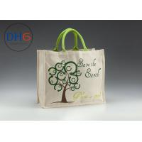 China Gray Natural Custom Cotton Tote Bags Easily Packed Machine Cutted Branded Logo on sale