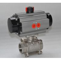 Wholesale Thread WCB Stainless Steel Pneumatic Ball Valve / 3 Way Flanged Ball Valve from china suppliers